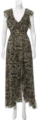 L'Agence Silk Off-The-Shoulder Maxi Dress Black Silk Off-The-Shoulder Maxi Dress