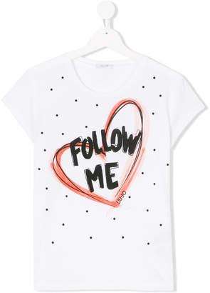 Liu Jo Kids TEEN heart-print T-shirt