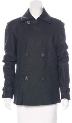 Theory Double-Breasted Wool-Blend Coat