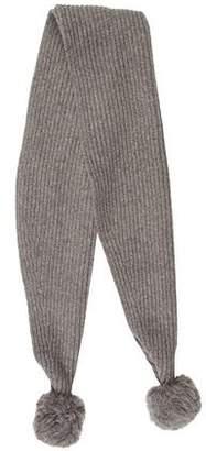 Acne Studios Rib Knit Wool Scarf