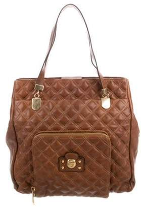 Marc Jacobs Quilted Leather Tote Brown Quilted Leather Tote