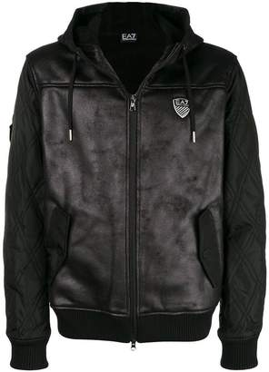 Emporio Armani Ea7 hooded biker jacket