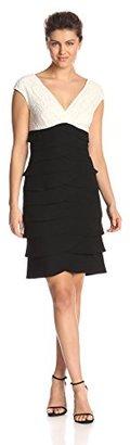 Jessica Howard Women's Extended Shoulder Surplus Dress $45.78 thestylecure.com