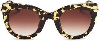 Cat Eye Krewe Laveau 24K Gradient Sunglasses, 48mm