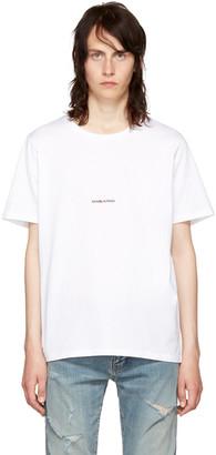 Saint Laurent White Rive Gauche T-Shirt $350 thestylecure.com