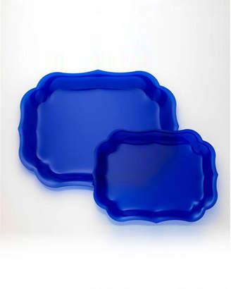 Mario Luca Giusti Gioconda Tray, Royal Blue