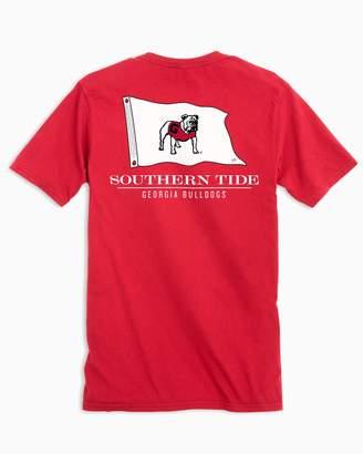 Southern Tide Gameday Nautical Flags T-shirt - University of Georgia Bulldogs