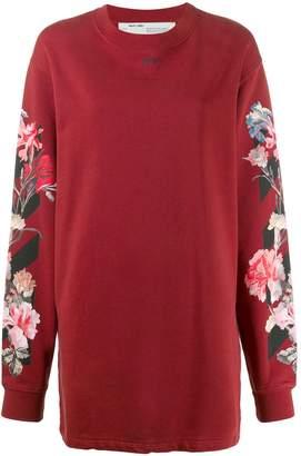 Off-White floral-print sweatshirt dress