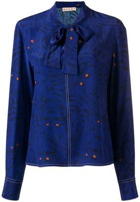 Marni cat print blouse