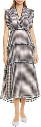 Kate Spade Gingham Midi Dress