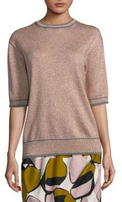 Marc Jacobs Glittery Crewneck Top