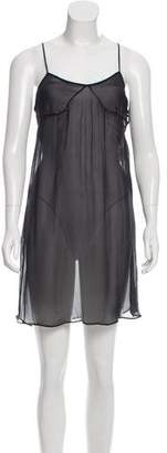 Stella McCartney Sleeveless Semi-Sheer Silk Dress w/ Tags