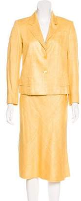 Prada Silk Skirt Suit