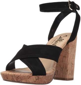 Callisto Women's Windye Heeled Sandal Black Suede 10 M US