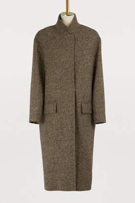 32 Paradis Sprung Frères Detroit long tweed coat