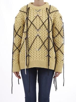 Calvin Klein Jumper In Embroidered Honeycomb