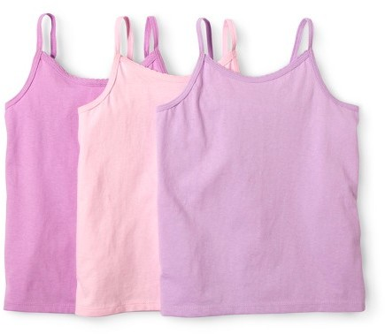 Hanes Girls' Multicolor 3-pack Sleeveless Camis