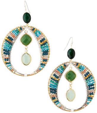 Nakamol Open Crystal Dangle Earrings