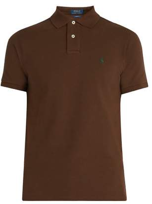 Polo Ralph Lauren Slim Fit Cotton Polo Shirt - Mens - Brown