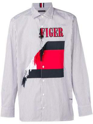 Tommy Hilfiger embroidered striped shirt