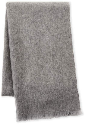 Qi Double Face Frayed Wool Scarf