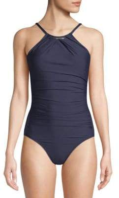Calvin Klein One-Piece Printed Swimsuit
