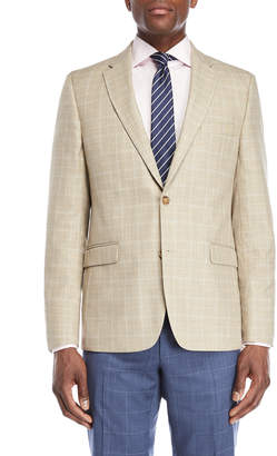 Tommy Hilfiger Tan & Blue Windowpane Sport Coat