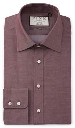 Thomas Pink Slim Fit Boyd Plain Dress Shirt