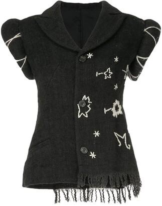 Yohji Yamamoto Pre-Owned embroidered short sleeve jacket