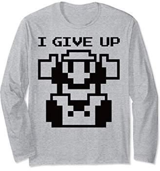 Nintendo Super Mario Give Up 8-bit Pixel Long Sleeve Tee