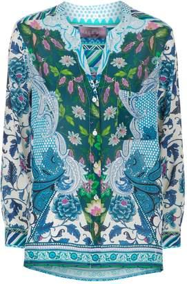 Hale Bob Fayola Printed Silk Shirt