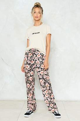 Nasty Gal There You Grow Floral Pants