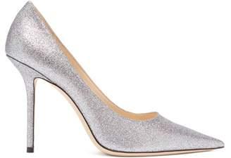 Jimmy Choo Love 100 Glittered Leather Pumps - Womens - Silver Multi