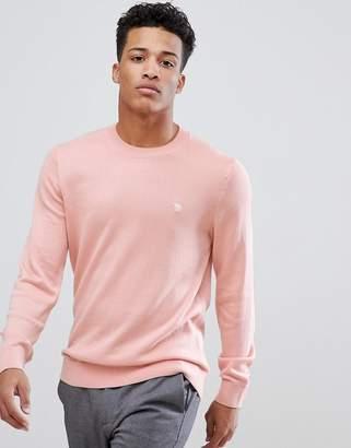 Abercrombie & Fitch Core Icon Moose Logo Crewneck Sweatshirt in Light Pink
