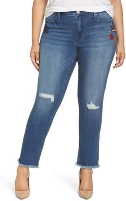 Seven7 Slim Straight Raw Hem Jeans
