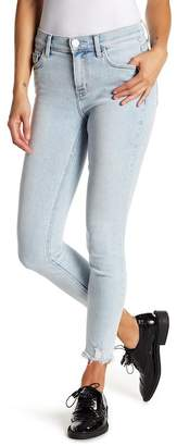 Current/Elliott The High Waist Distressed Hem Stiletto Jeans