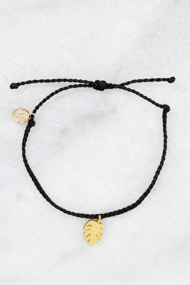 Pura Vida Palm Leaf Charm String Bracelet