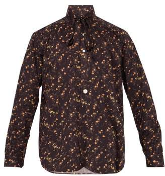 Needles Liberty Floral Print Cotton Shirt - Mens - Dark Brown