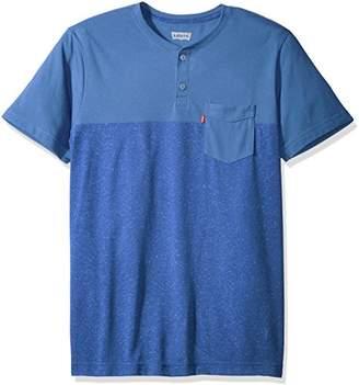 Levi's Men's Jenner 2 Speckled Snow Yarn Jersey Short Sleeve Shirt