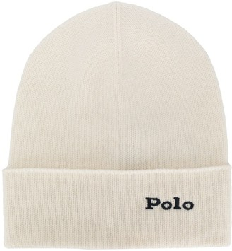 Polo Ralph Lauren cashmere logo embroidery beanie