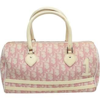 Christian Dior Pink Suede Handbags