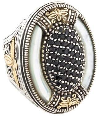Konstantino Spinel & Mother of Pearl Oval Ring