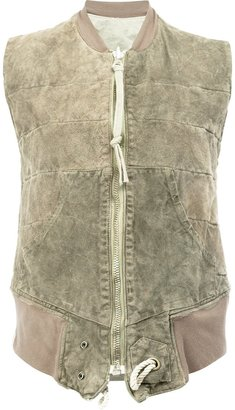 Greg Lauren reversible quilted gilet $2,248 thestylecure.com