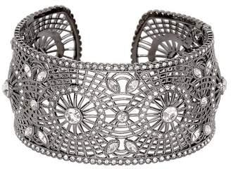Kenneth Jay Lane Multi Crystal Cuff Bracelet