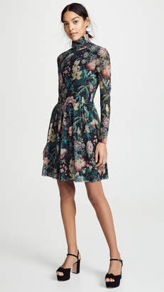 Rebecca Taylor Long Sleeve Faded Garden Dress