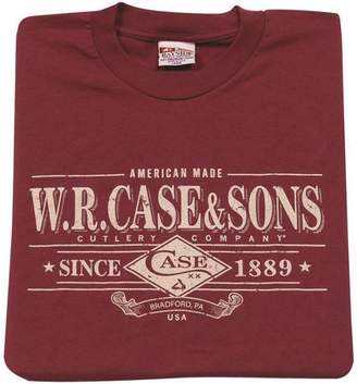 WR Case & Sons Cutlery T-Shirt Maroon XXXL
