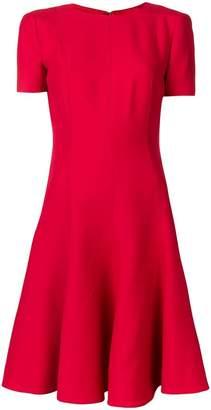 Valentino flared short-sleeve dress
