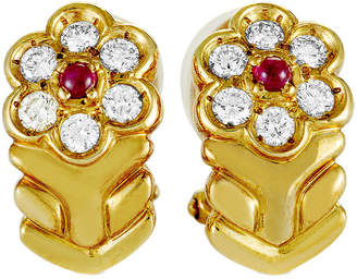 Christian Dior HERITAGE  18K 0.59 Ct. Tw. Diamond & Ruby Earrings