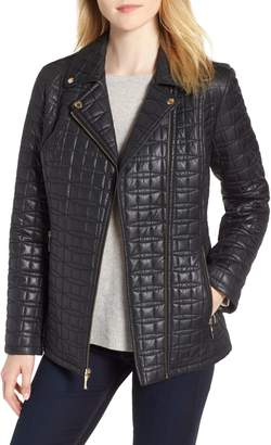 Kate Spade Bow Quilted Moto Jacket