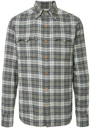 Kolor star-stud checked shirt